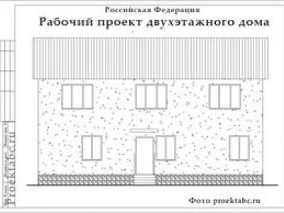 Проект трехквартирного двухэтажного каркасного дома 8 на 10 метров