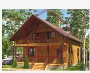 #39. План дом из дерева 8х10