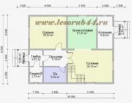 #40. Планировка дома 8х10 метров фото