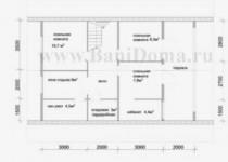 #41. Планировка дома 8 на 10 с несколькими помещениями