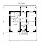 #43. План дома 8 на 10 - двухэтажный
