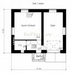 #44. Жилой дом 8 на 10 м