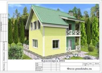 Каркасный дом 8 на 10 метров