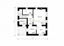 #36. Планировка двухэтажного дома 9 на 9 м