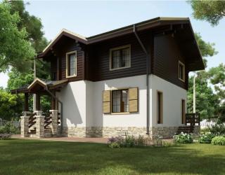 Двухэтажный дом из керамического блока