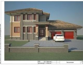 """Проект двухэтажного жилого дома с гаражом """"Белояр"""""""