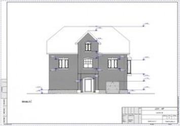 Проект двухэтажного дома мансардой с гаражом 7 на 11