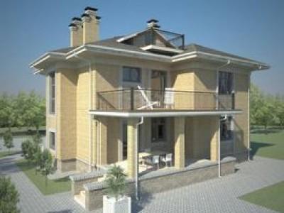 Проект двухэтажного дома с тремя спальнями СБ-240-К