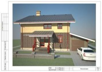 """Двухэтажный проект дома 11 на 13 """"Курортный"""""""