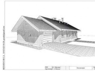 """Проект одноэтажного дома с гаражом и террасой """"СБ-100"""""""