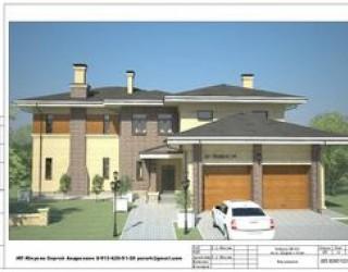 Проект двухэтажного дома в стиле хай-тек
