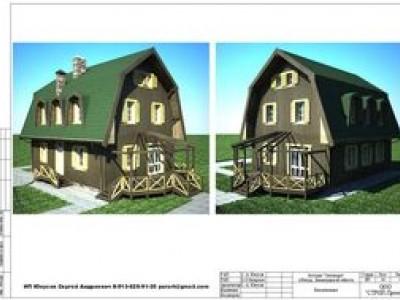Проект одноэтажного жилого дома Сентеция с мансардным этажом