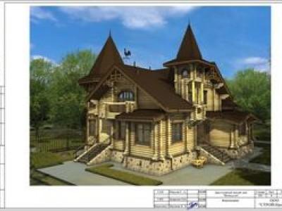 Проект дома в стиле средневекового замка