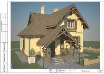 Проект одноэтажного кирпичного дома с мансардой 11 на 9